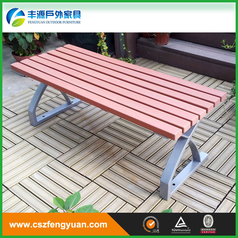 recycled plastic park bench slats with cast aluminum legs for modern wood furniture