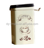 Antique Farmers Pride Cube Cut Coffee Tin with a lid with Paper Label/by printing