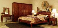 Solid maple wood 1.8m bed elegant design king size bedroom set