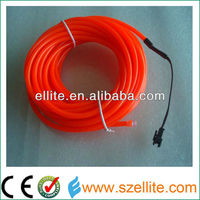 high quality brightness 2.3mm thickness el wire red