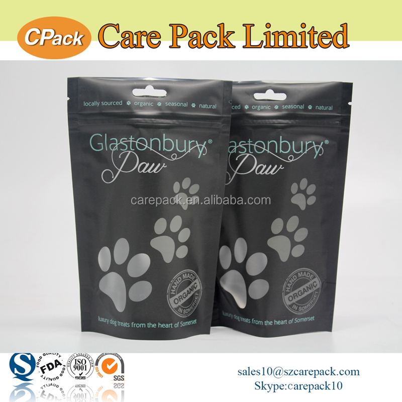 High quality foil lined dog treats plastic packaging bag
