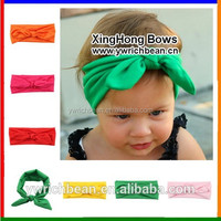 Top hot-sales mixed color baby knotted headband kids hair band solid colors children knotted hair accessory