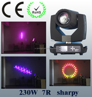 Professional 230w sharpy 7r beam spot wash moving head light for wedding stage