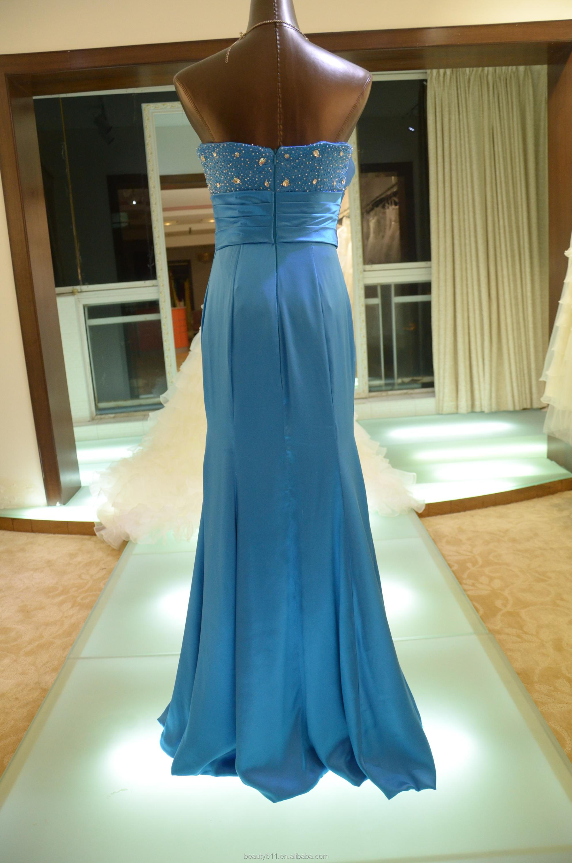 IN STOCK Off-The-Shoulder real silk party dress women's floor-length prom dress SE20