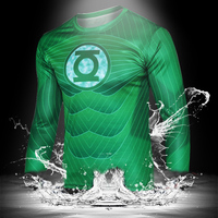 2015 Men Long Sleeve T-shirt 3D Superhero Printing Tops Sport Tees N10-43