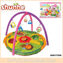 Activity play mat with rattles Insect round play mat kids gym