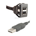 LBT-New Arrival Dual USB A Female to A Male Panel Mount Snap-In Cable
