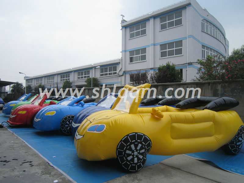 Fashion cartoon inflatable car model for sale