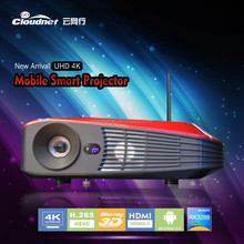 2015 Hot!! 3d data projector with bluetooth wifi 4K projectors for sale 3000 lumens pocket android 4.4 Blu-ray 3D led projector