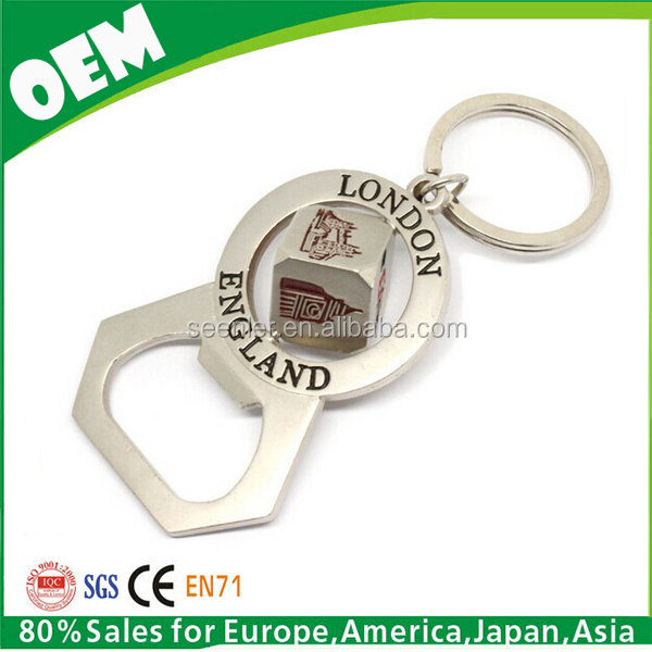 England London beer bottle opener keychain, key chain