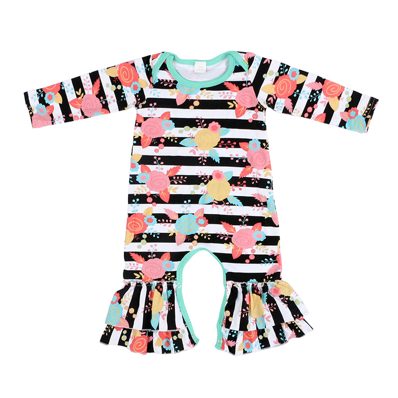 cc5c9415848a cotton floral print long sleeve baby gowns fall winter warm baby romper  newborn