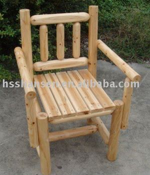solid wooden arm chair
