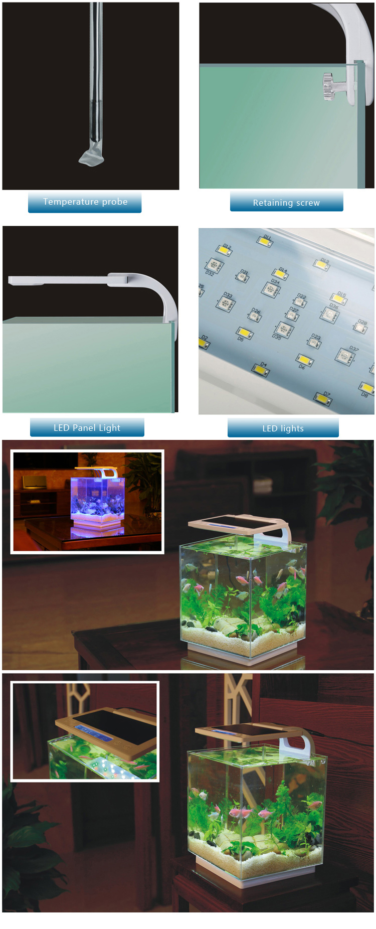 Sunsun 2018 sale new patent configuration led lamp fish for New fish tank