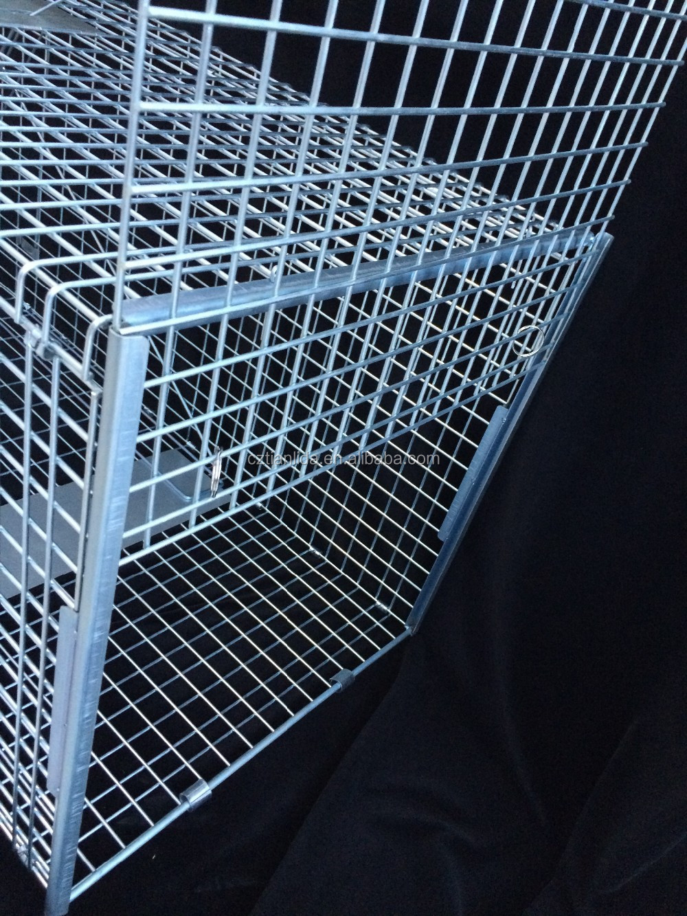Heavy duty collapsible dog cage trap, live catch dog trap cage, single door cage traps for dogs---TLD2018