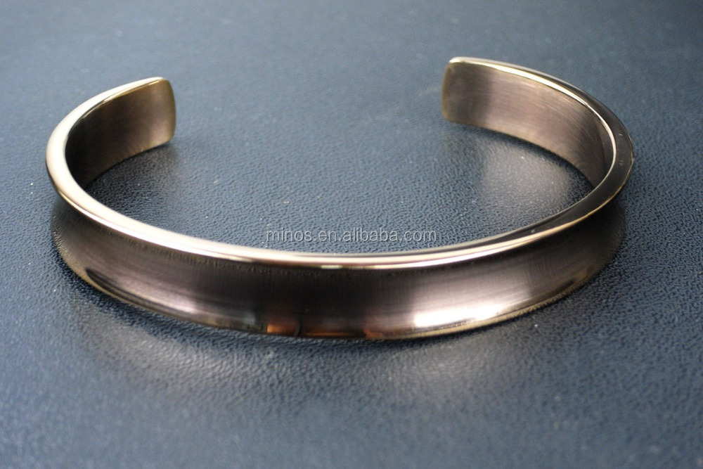 Rose Gold plated Stainless Steel Open End Adjustable Bracelet Bangle Cuff Mens Women