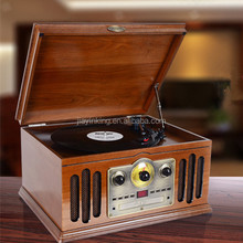 3-Speed phonograph turntable cd record cassette radio player