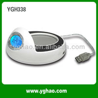 YGH338A USB LED light clock tea/milk/coffee usb warmer cup