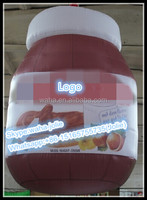 2015 waha customized inflatable Chocolate Sauce jar for advertising W10260