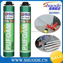 high density 750ml pu aerosol polyurethane spray foam adhesive de construction