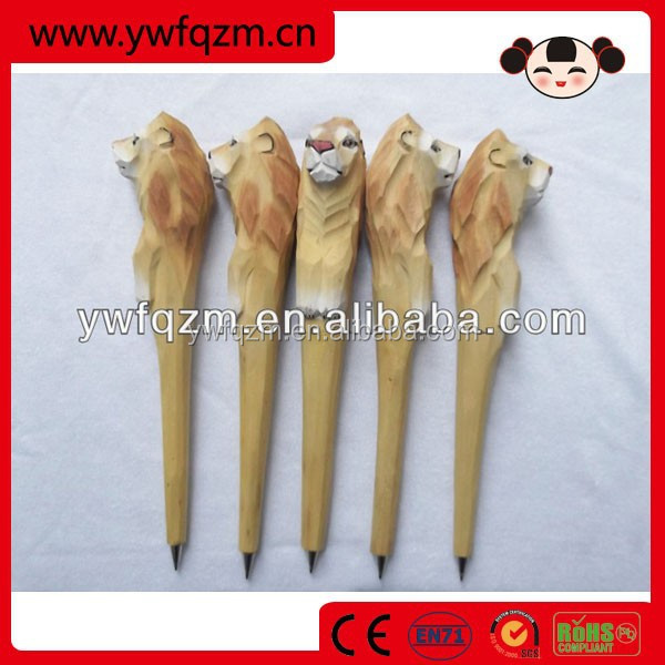wood carving animal shaped pens