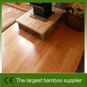Carbonized Click Joint Strand Woven Bamboo Flooring With CE