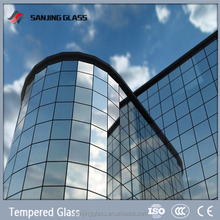 "Tempered 2"" thick plate glass for curtain wall"