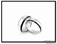 New Silver Plated 316L Stainless Steel lovers ring gj008