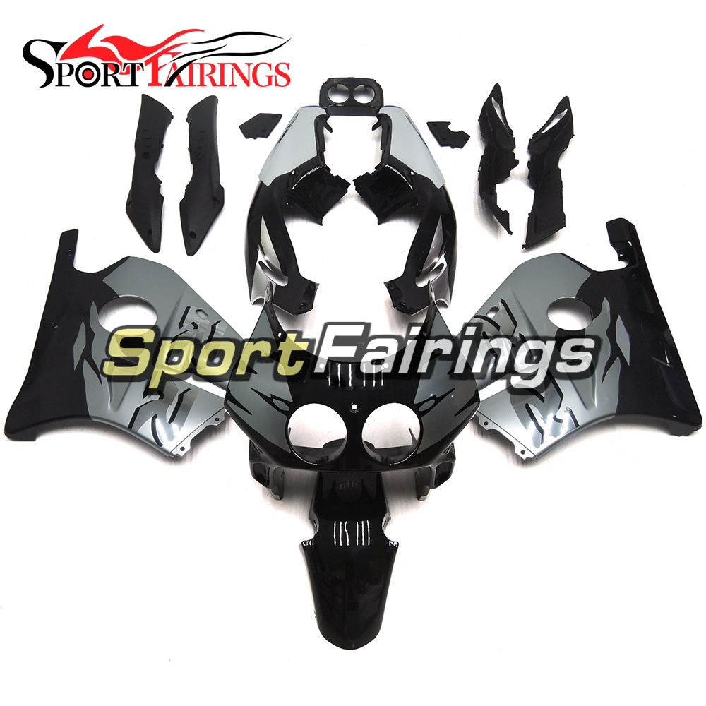 Injection ABS Plastic Motorcycle Fairing Kits For Honda CBR250RR MC22 90-94 Year 1990 1991 1992 1993 1994 Silver Black Bodyworks