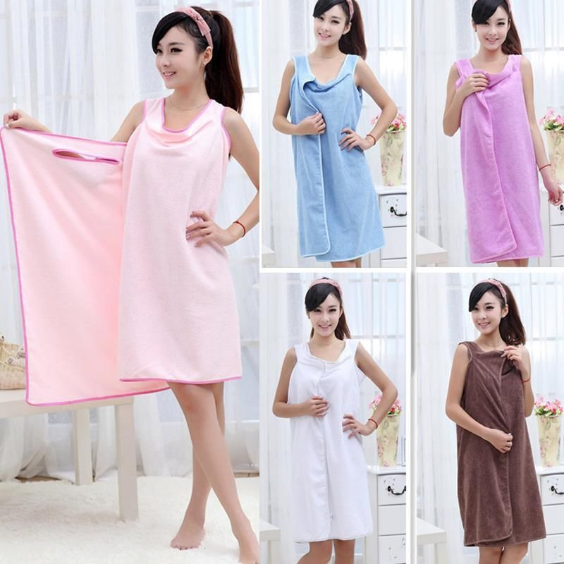New Unisex Microfiber Towel Wearable Magic Bath Towel Bathrobes Bath Skirt Dress