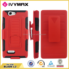 Wholesale price robot case for ZTE BLADE L2 combo case with stand