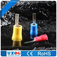 DBV CE ROHS Certificated 22-16 16-14 12-10A.W.G Electro Tin Plated Wire Connecting Copper Insulated Blade Battery Terminal