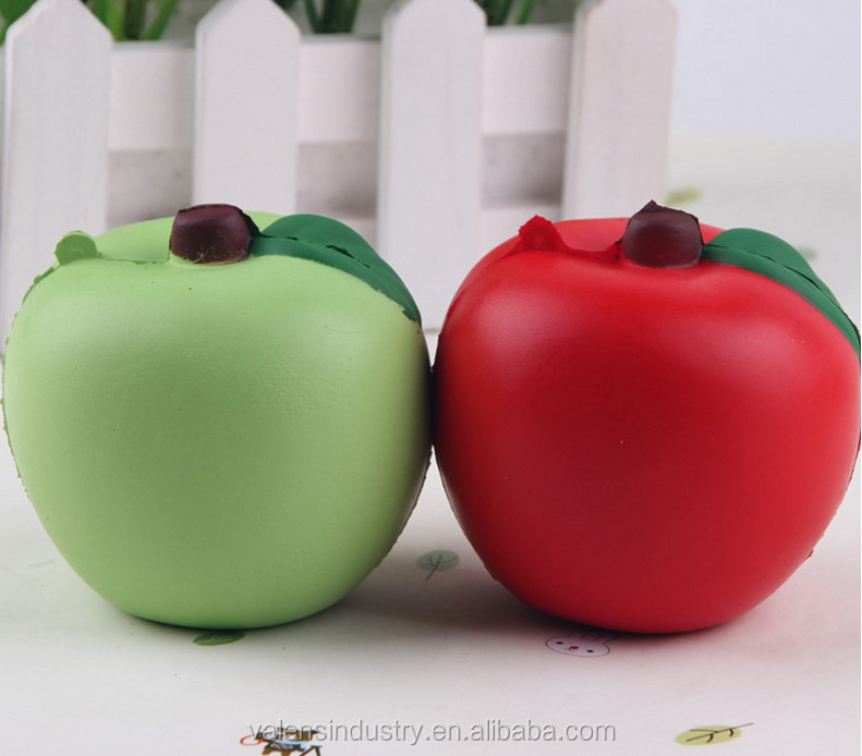 Hot Selling Anti Stress Soft PU squishy Kawaii slow rising Cute Apple toys for Female Mobile phone/Handbag pendant