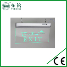 3W 85-256V rechargeable LED acrylic emergency Exit Signs for Arab