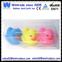 Floating bath duck/rubber toy duck 3pcs/pvc tube