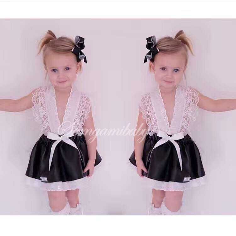 2017 Kids Girls Tulle Lace Bow Party Dresses Baby Girl TuTu Princess Dress Babies Korean Style Suspender Dress Children's