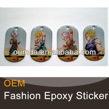 Cartoon characters epoxy resin craft stickers