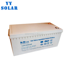 high performance Deep Cycle 12V 200AH solar gel battery solar panel battery