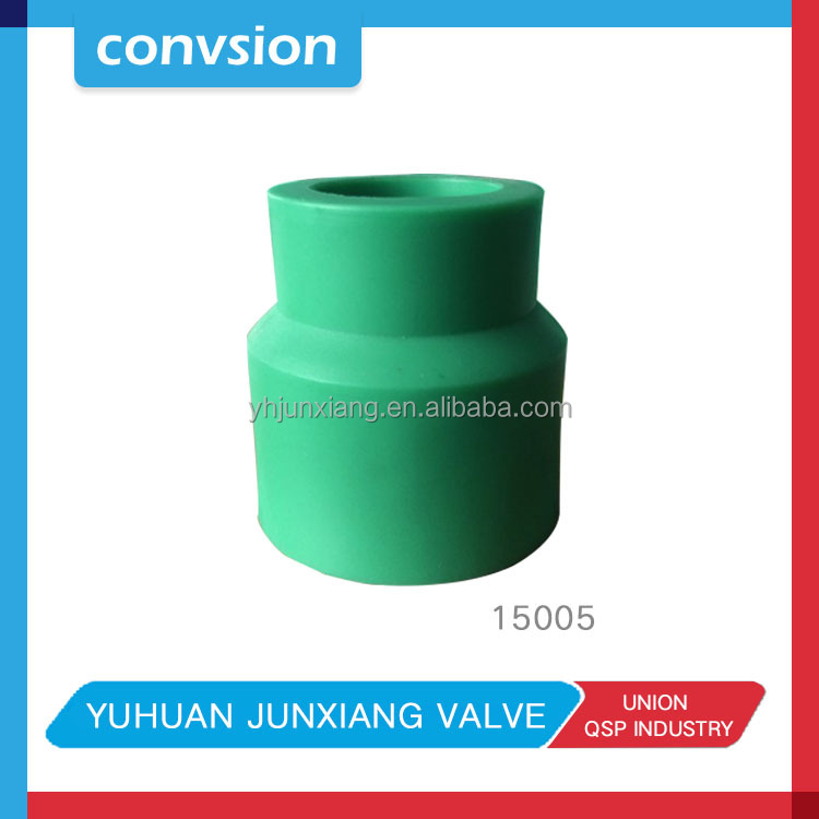 JUNXIANG 15005 green pvc pipe fittings/ppr pipe and fitting