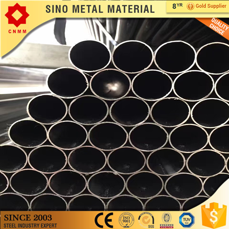 black galvanized round steel pipe/tubes round tube pipe green house st52 round pre galvanized steel tube