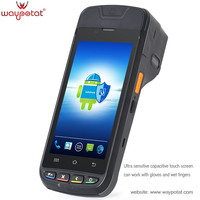 waypotat android pda barcode laser scanner with 2inch thermal printer 3G i9000s
