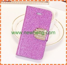 fashion Flash powder plating stick a skin cell phone case for iphone5