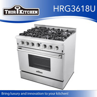 Free standing kitchen equipment gas stove