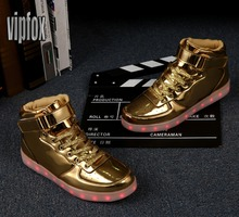 cheapest gold and silver light up heel casual shoes,fashion kids led sport dance casual shoes