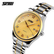 Luxury brand SKMEI Date Precise Classic Watches Men Waterproof japan movt diamond quartz watch HOT