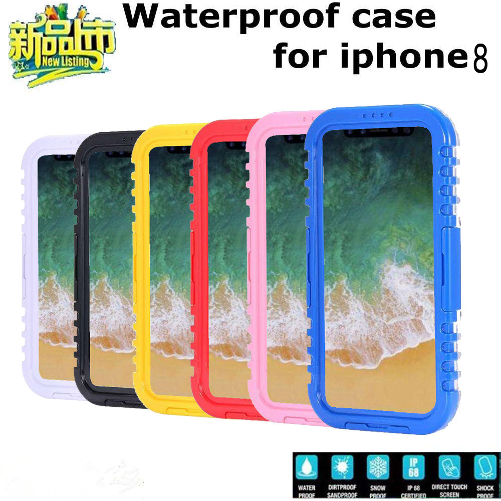 New Arrival Hard Waterproof PC Silicone Case Cover for iPhone X