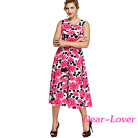 Western Designs Women Casual One Piece Dress Print Rosy Floral Dress