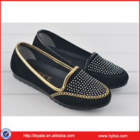 2014 New design fashion women flat pu shoes