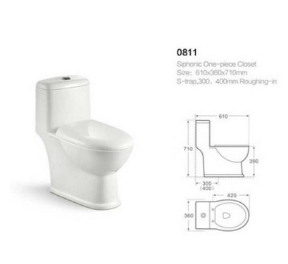 Ceramic one-piece sanitary ware washdown japanese toilet automatic