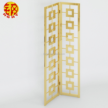 stainless steel oriental metal wall decor residential indian folding screen paravent 2 panel room divider