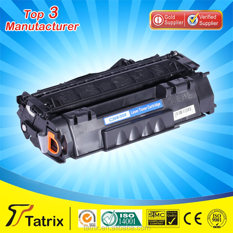 Brand NEW Printer Consumables Compatible Black/Color Laser Toner Cartridge for canon CRG308 508 without chip